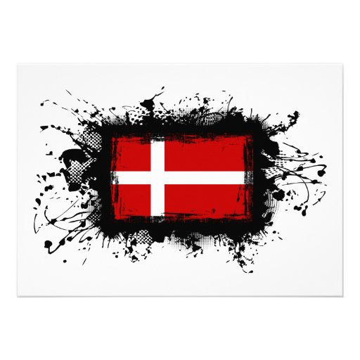 Denmark Flag Personalized Invitations