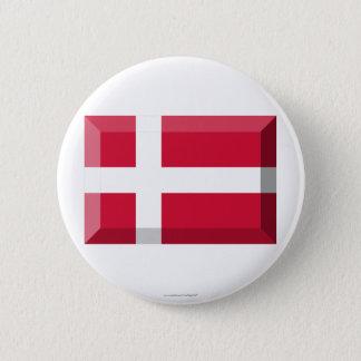 Denmark Flag Jewel 6 Cm Round Badge