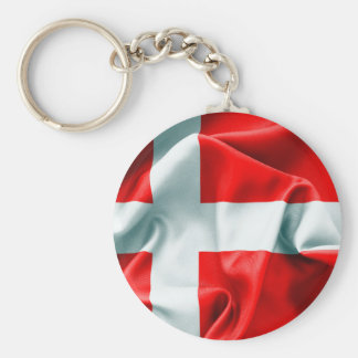 Denmark Flag Key Chain