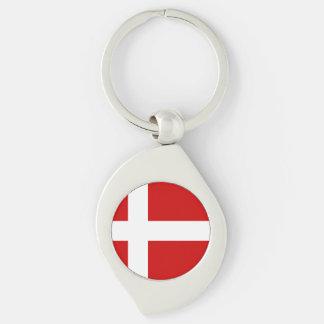 Denmark Flag Key Ring