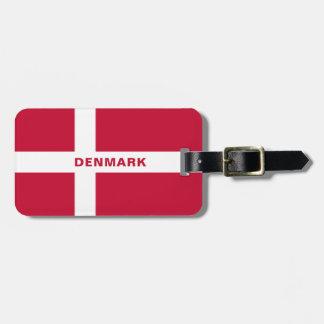 Denmark Flag Luggage Tag