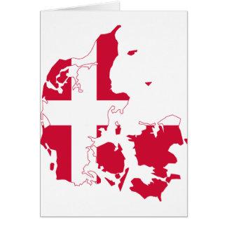 Denmark Flag map DK Card