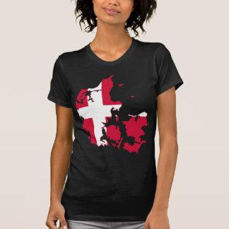Denmark Flag map DK T Shirt