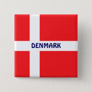 DENMARK: Flag of Denmark 15 Cm Square Badge