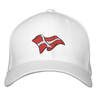 Denmark flag of Denmark Dansk flag for Danes Recol Embroidered Hat
