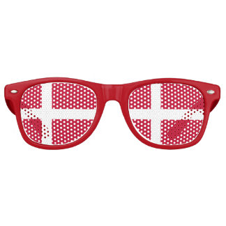Denmark Flag Party Shades Sunglasses