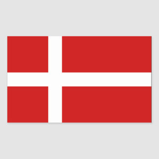 Denmark Flag Rectangular Sticker