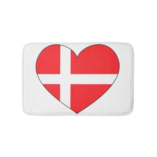 Denmark Flag Simple Bath Mat