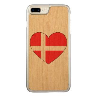 Denmark Flag Simple Carved iPhone 8 Plus/7 Plus Case