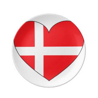 Denmark Flag Simple Plate