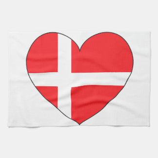 Denmark Flag Simple Tea Towel