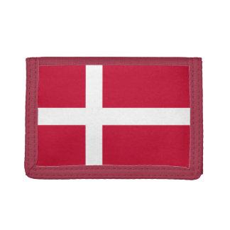 Denmark Flag TriFold Nylon Wallet
