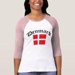 Denmark Flag w/Inscription Tee Shirts