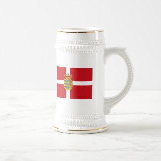 Denmark Flagw COA Mug