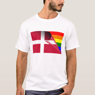 Denmark Gay Pride Rainbow Flag T-Shirt