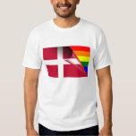 Denmark Gay Pride Rainbow Flag Tshirts