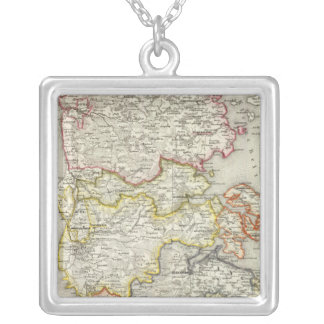 Denmark, Germany 2 Silver Plated Necklace