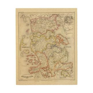 Denmark, Germany 2 Wood Prints