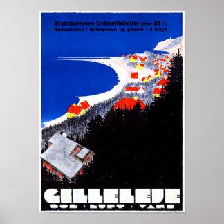 Denmark Gilleleje Restored Vintage Travel Poster