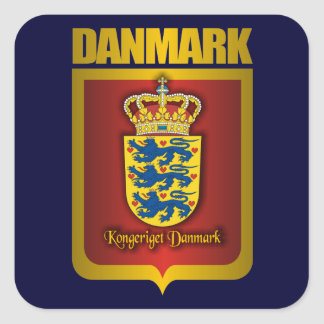 """Denmark Gold"" Square Sticker"