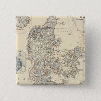 Denmark, Hanover, Brunswick, Mecklenburg 15 Cm Square Badge
