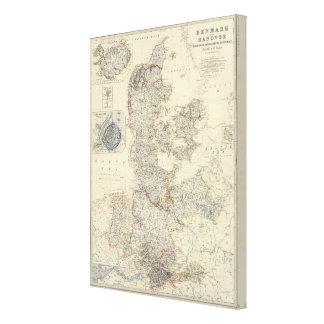 Denmark, Hanover, Brunswick, Mecklenburg Canvas Print