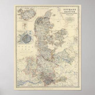Denmark, Hanover, Brunswick, Mecklenburg Poster