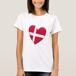 Denmark Heart Flag T-Shirt