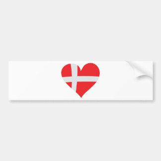 Denmark heart icon bumper sticker