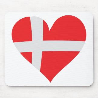 Denmark heart icon mouse mat