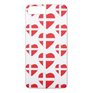 DENMARK HEART SHAPE FLAG iPhone 8 PLUS/7 PLUS CASE