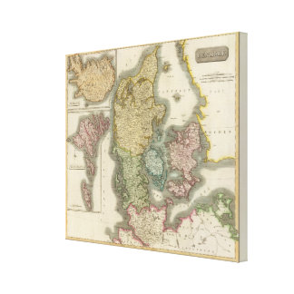 Denmark, Iceland, Feroe Islands Canvas Print