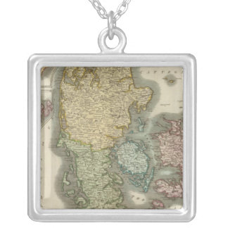 Denmark, Iceland, Feroe Islands Silver Plated Necklace