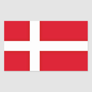 Denmark Inspired Flag Pattern Rectangular Sticker