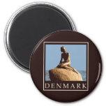 Denmark Little Mermaid 6 Cm Round Magnet