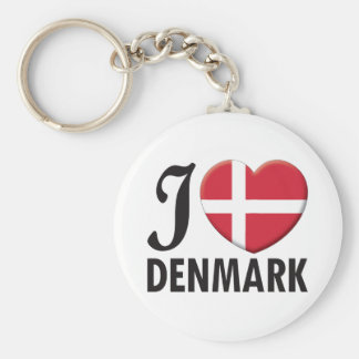Denmark Love Key Ring