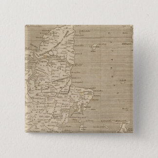 Denmark Map by Arrowsmith 15 Cm Square Badge