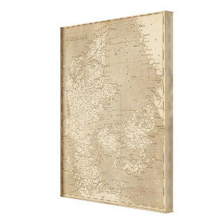 Denmark Map by Arrowsmith Canvas Print
