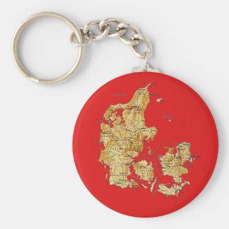 Denmark Map Keychain