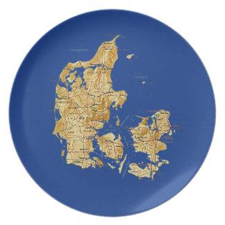 Denmark Map Plate