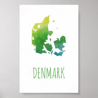 Denmark Map Poster