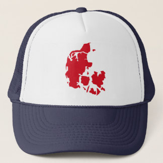 Denmark Map Trucker Hat