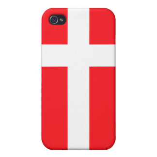 Denmark National nation Flag  iPhone 4 Cover