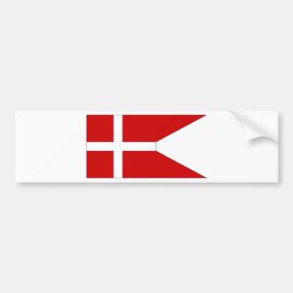 Denmark Naval Ensign Bumper Sticker
