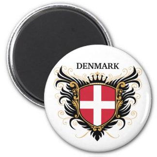 Denmark [personalize] 6 cm round magnet