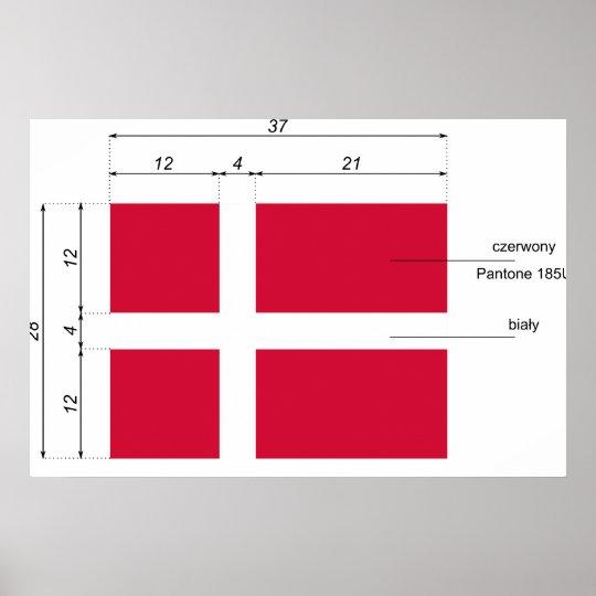 Denmark-Proportions, Denmark flag Poster
