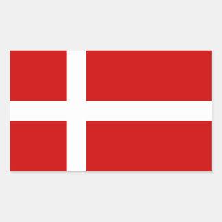Denmark Rectangular Sticker