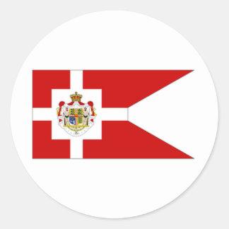 Denmark Royal Standard Classic Round Sticker