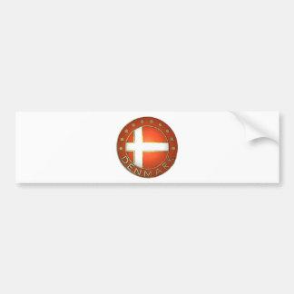 Denmark Shield Bumper Sticker