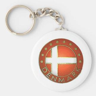 Denmark Shield Key Ring